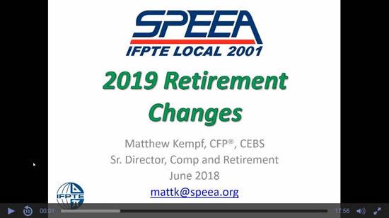 SPEEA Pension & Retirement Seminars